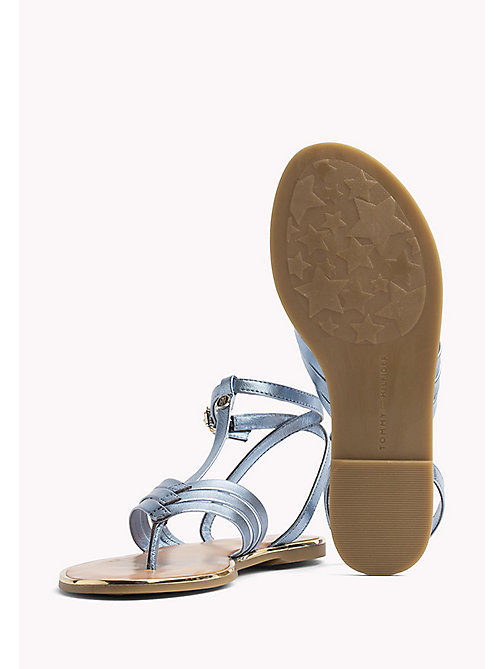 TOMMY HILFIGER Metallic T-Bar Sandals - ENGLISH MANOR - TOMMY HILFIGER Flat Sandals - detail image 1