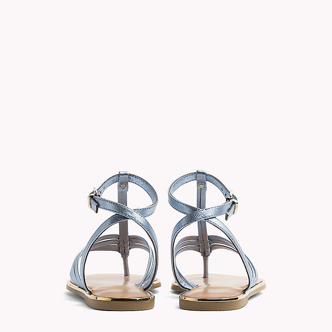 TOMMY HILFIGER Metallic T-Bar Sandals - FRAMBUESA - TOMMY HILFIGER SHOES - detail image 2