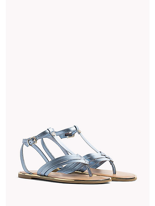 TOMMY HILFIGER Metallic T-Bar Sandals - ENGLISH MANOR - TOMMY HILFIGER Flat Sandals - main image