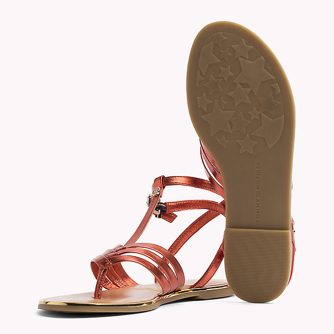 TOMMY HILFIGER Metallic T-Bar Sandals - ENGLISH MANOR - TOMMY HILFIGER SHOES - detail image 1