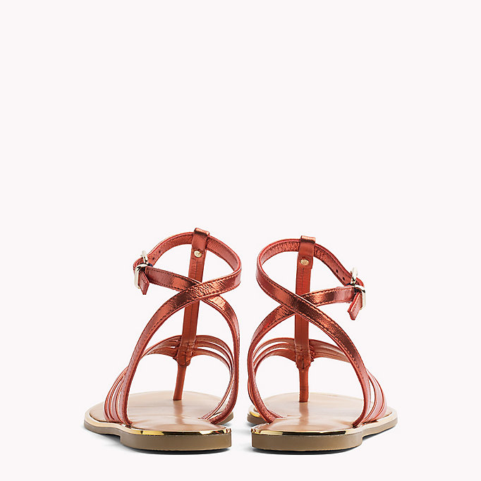 TOMMY HILFIGER Metallic T-Bar Sandals - ENGLISH MANOR - TOMMY HILFIGER SHOES - detail image 2