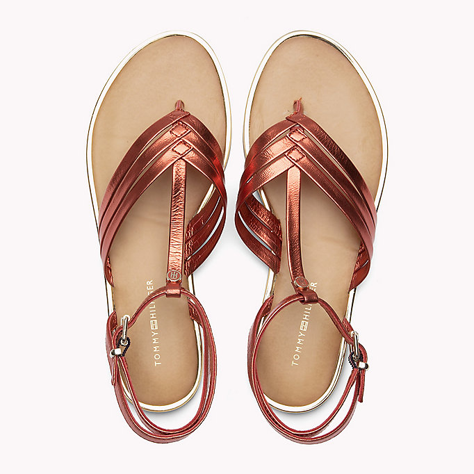 TOMMY HILFIGER Metallic T-Bar Sandals - ENGLISH MANOR - TOMMY HILFIGER SHOES - detail image 3