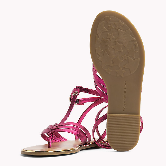 TOMMY HILFIGER Metallic T-Bar Sandals - MEKONG - TOMMY HILFIGER SHOES - detail image 1