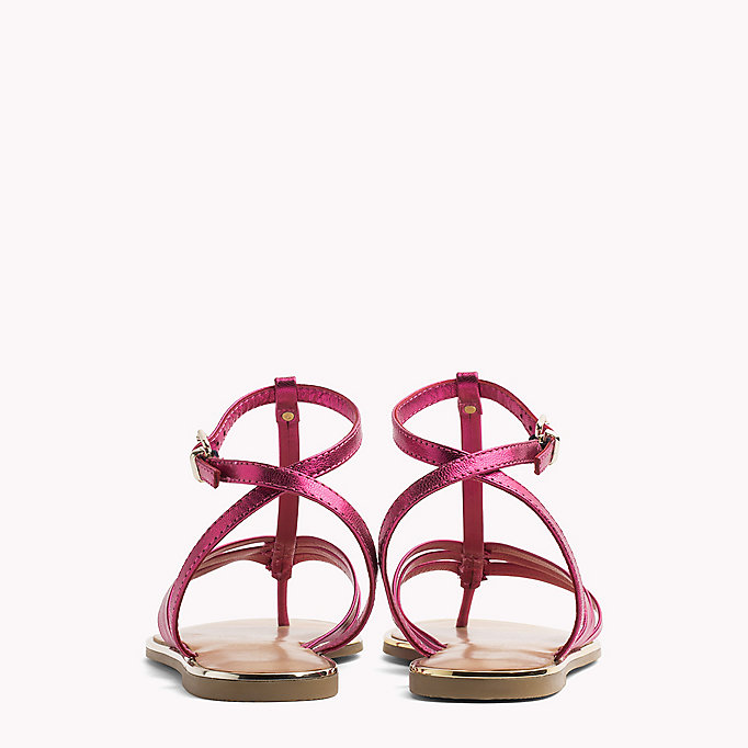 TOMMY HILFIGER Metallic T-Bar Sandals - MEKONG - TOMMY HILFIGER SHOES - detail image 2