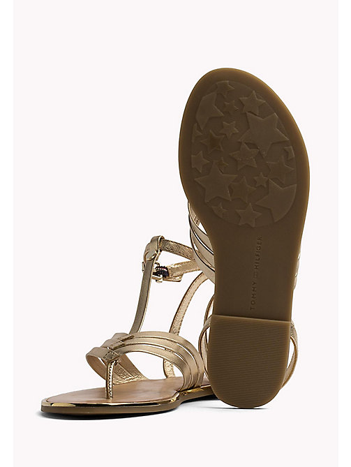 TOMMY HILFIGER Metallic T-Bar Sandals - MEKONG - TOMMY HILFIGER Best Sellers - detail image 1