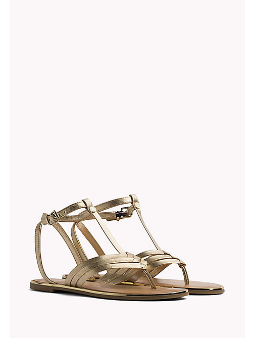 TOMMY HILFIGER Metallic T-Bar Sandals - MEKONG - TOMMY HILFIGER Flat Sandals - main image