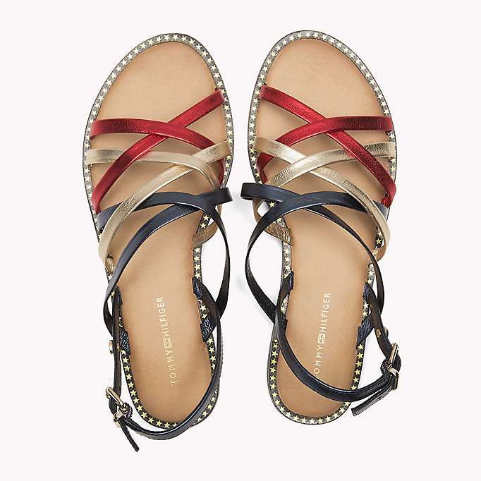 TOMMY HILFIGER Metallic Strappy Sandals - MEKONG - TOMMY HILFIGER Shoes - detail image 3