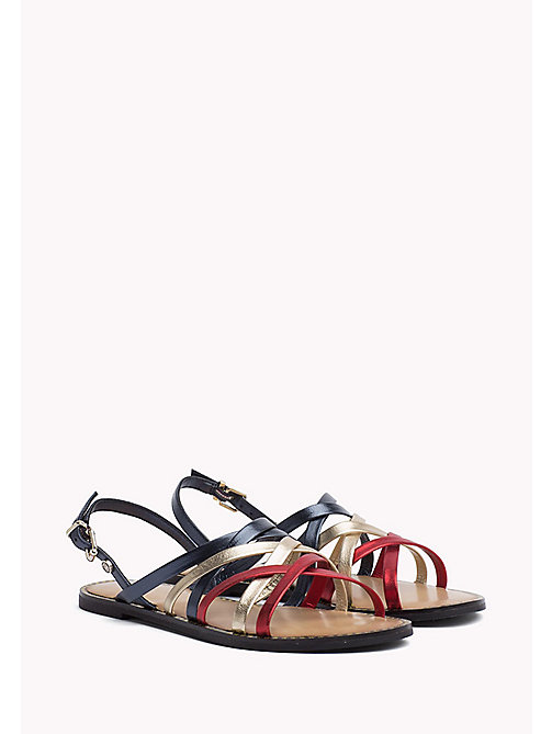 TOMMY HILFIGER Metallic Strappy Sandals - RWB - TOMMY HILFIGER VACATION FOR HER - main image
