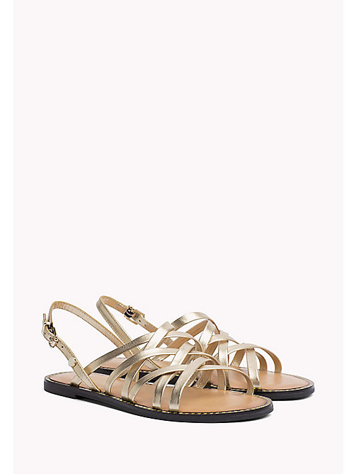 TOMMY HILFIGER Metallic Strappy Sandals - MEKONG - TOMMY HILFIGER Flat Sandals - main image