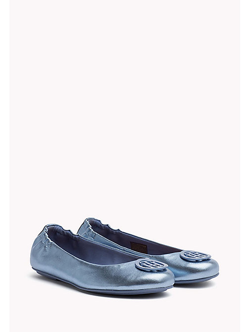 TOMMY HILFIGER Metallic-Ballerina aus Leder - ENGLISH MANOR - TOMMY HILFIGER Ballerinas - main image
