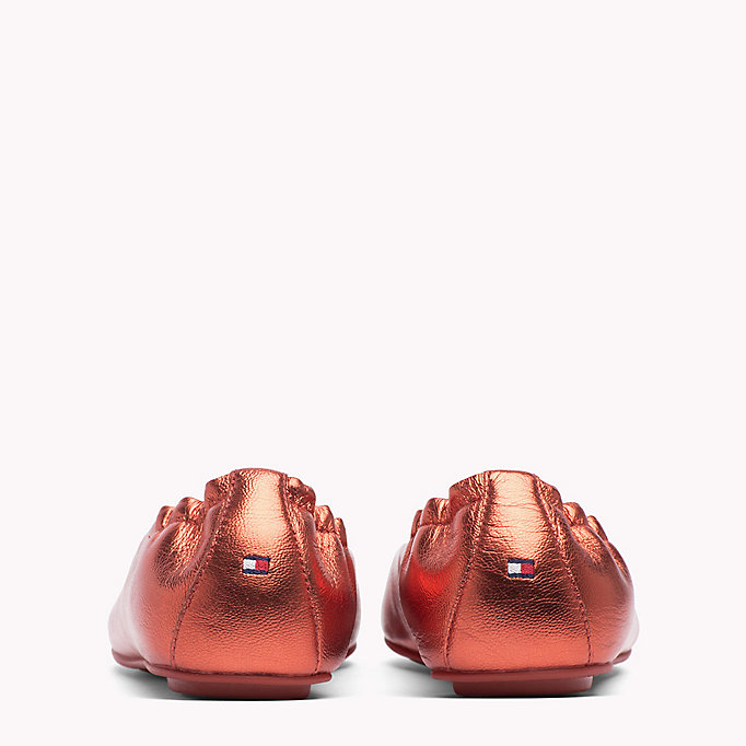 TOMMY HILFIGER Metallic Leather Ballerina Shoes - FRAMBUESA - TOMMY HILFIGER Women - detail image 2