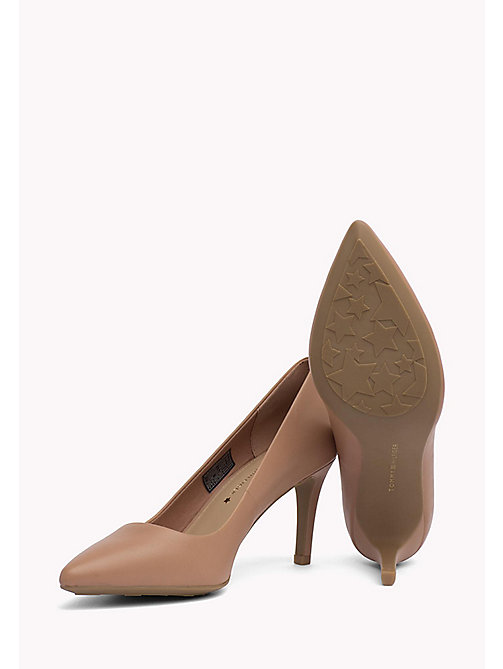 TOMMY HILFIGER Pointed Leather Pumps - SILKY NUDE - TOMMY HILFIGER Shoes - detail image 1