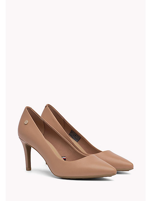 TOMMY HILFIGER Pointed Leather Pumps - SILKY NUDE - TOMMY HILFIGER Shoes - main image