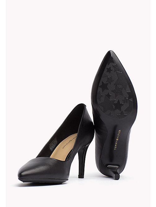 TOMMY HILFIGER Pointed Leather Pumps - BLACK - TOMMY HILFIGER Shoes - detail image 1
