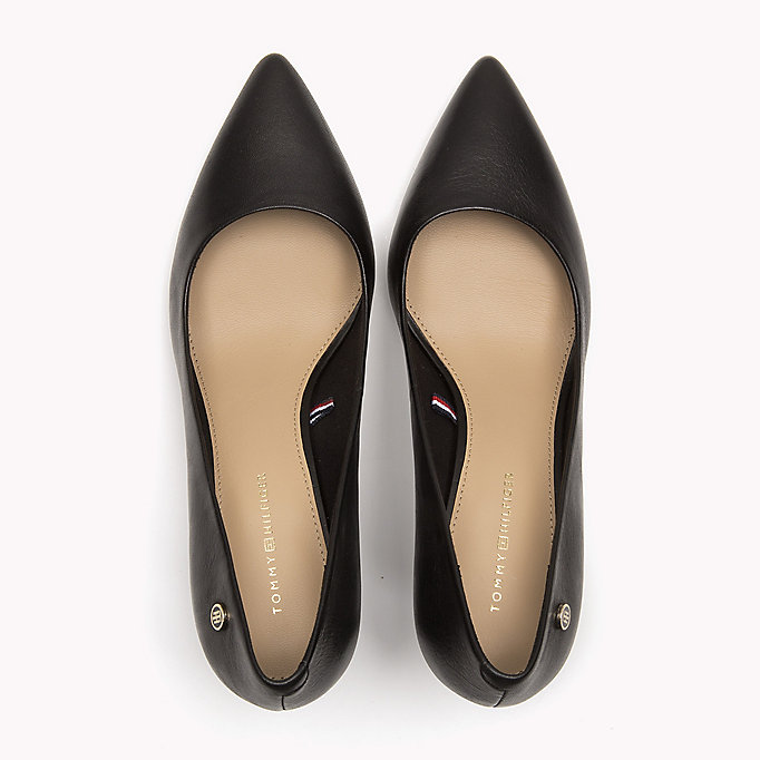 TOMMY HILFIGER Pointed Leather Pumps - SILKY NUDE - TOMMY HILFIGER SHOES - detail image 3