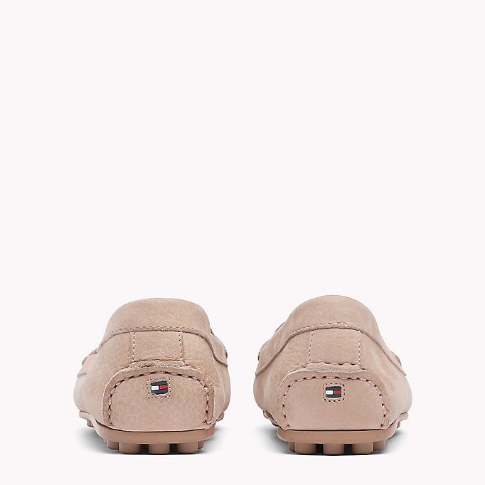 TOMMY HILFIGER Chain Trim Leather Moccasins - SUMMER COGNAC - TOMMY HILFIGER Shoes - detail image 2