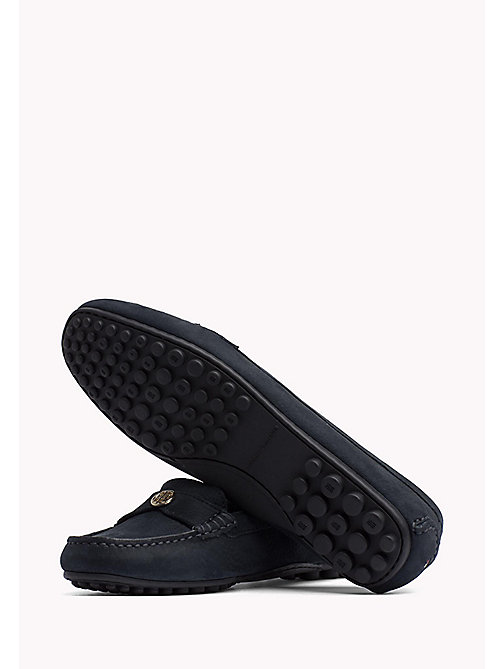 TOMMY HILFIGER Chain Trim Leather Moccasins - MIDNIGHT -  Moccasins & Loafers - detail image 1