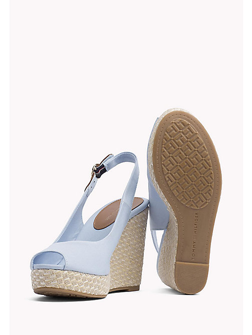 TOMMY HILFIGER Iconic Slingback Espadrille Wedge Sandals - CHAMBRAY BLUE - TOMMY HILFIGER Wedges - detail image 1