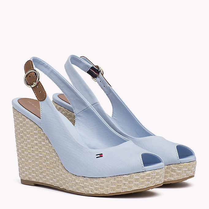 TOMMY HILFIGER Iconic Slingback Espadrille Wedge Sandals - MIDNIGHT - TOMMY HILFIGER Women - main image