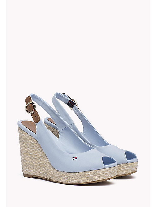 TOMMY HILFIGER Iconic Slingback Espadrille Wedge Sandals - CHAMBRAY BLUE - TOMMY HILFIGER Heeled Sandals - main image