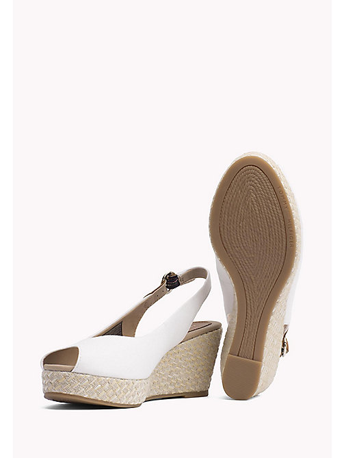 TOMMY HILFIGER Iconic Slingback Sandals - WHISPER WHITE - TOMMY HILFIGER Wedges - detail image 1