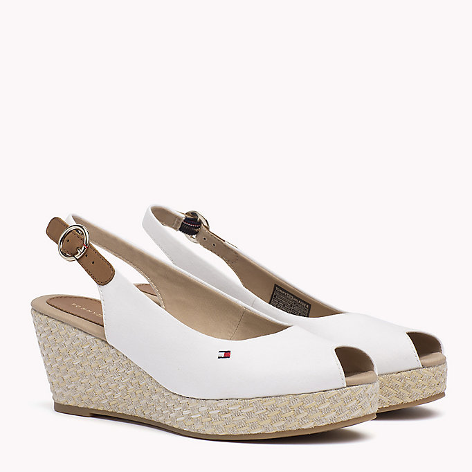 TOMMY HILFIGER Iconic Slingback Sandals - COBBLESTONE - TOMMY HILFIGER SHOES - main image