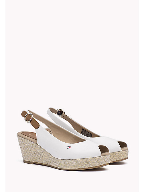 TOMMY HILFIGER Iconic Slingback Sandals - WHISPER WHITE - TOMMY HILFIGER Heeled Sandals - main image
