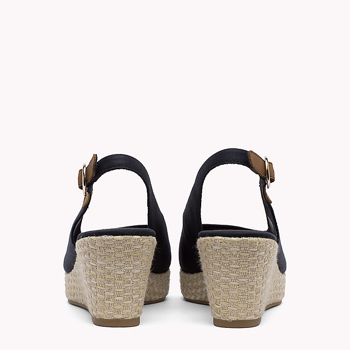 TOMMY HILFIGER Iconic Slingback Sandals - BLACK - TOMMY HILFIGER SHOES - detail image 2