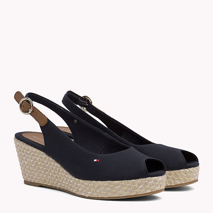 TOMMY HILFIGER Iconic Slingback Sandals - BLACK - TOMMY HILFIGER SHOES - main image