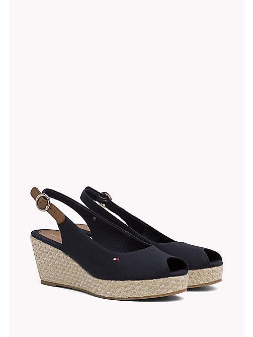 TOMMY HILFIGER Iconic Slingback Sandals - MIDNIGHT - TOMMY HILFIGER Wedges - main image