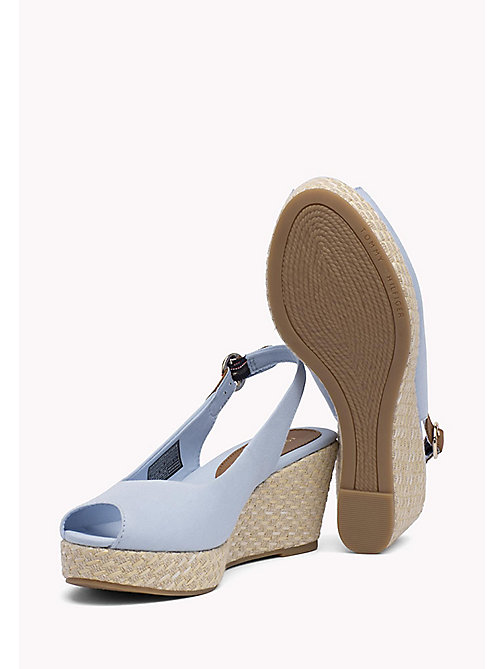 TOMMY HILFIGER Iconic Slingback Sandals - CHAMBRAY BLUE - TOMMY HILFIGER Wedges - detail image 1