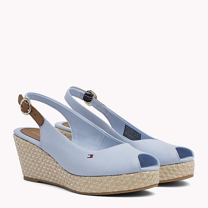 TOMMY HILFIGER Iconic Slingback Sandals - MIDNIGHT - TOMMY HILFIGER Shoes - main image