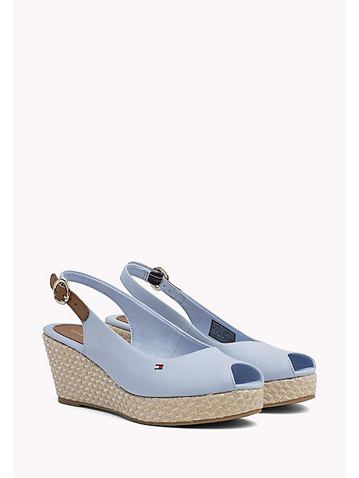 TOMMY HILFIGER Iconic Slingback Sandals - CHAMBRAY BLUE - TOMMY HILFIGER Wedges - main image