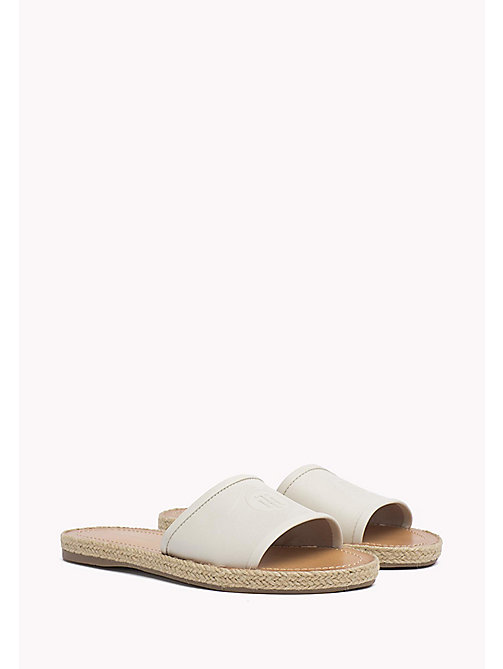 TOMMY HILFIGER Leather Mules - WHISPER WHITE - TOMMY HILFIGER Sandals - main image