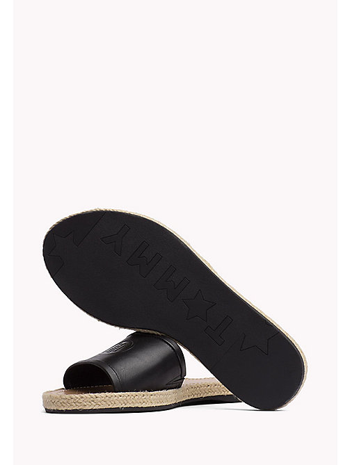 TOMMY HILFIGER Leather Mules - BLACK - TOMMY HILFIGER Shoes - detail image 1