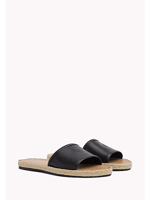 TOMMY HILFIGER Leather Mules - BLACK - TOMMY HILFIGER Sandals - main image