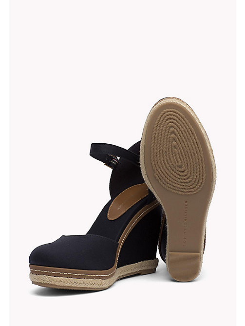 TOMMY HILFIGER Iconic Closed Toe Wedges - MIDNIGHT - TOMMY HILFIGER Heeled Sandals - detail image 1