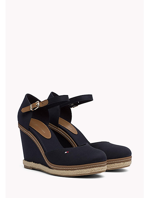 TOMMY HILFIGER Iconic Closed Toe Wedges - MIDNIGHT - TOMMY HILFIGER Heeled Sandals - main image