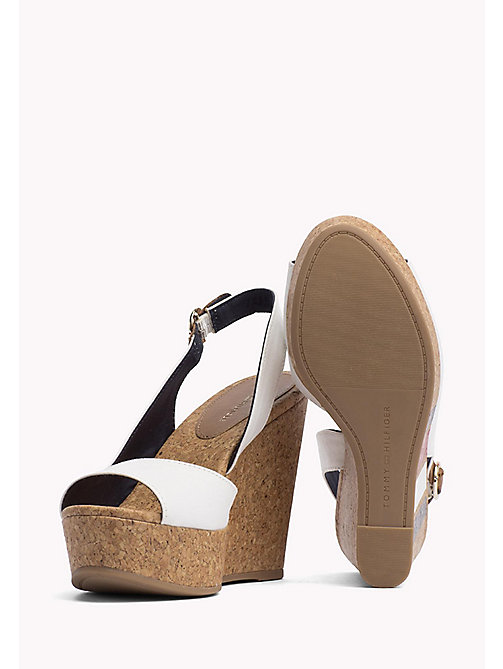 TOMMY HILFIGER Signature Stripe Wedge Sandals - WHISPER WHITE - TOMMY HILFIGER Wedges - detail image 1