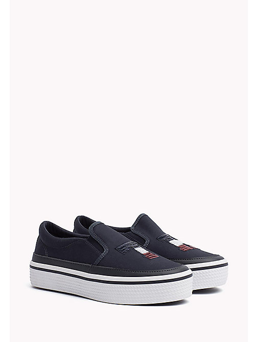 TOMMY HILFIGER Sequinned Flatform Trainers - MIDNIGHT - TOMMY HILFIGER Trainers - main image