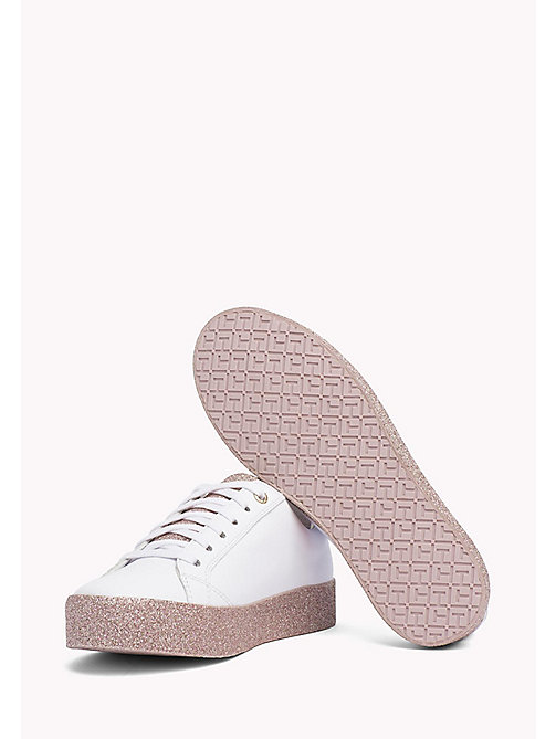 TOMMY HILFIGER Sparkle Flatform Trainers - WHITE-PINK - TOMMY HILFIGER Sneakers - main image 1