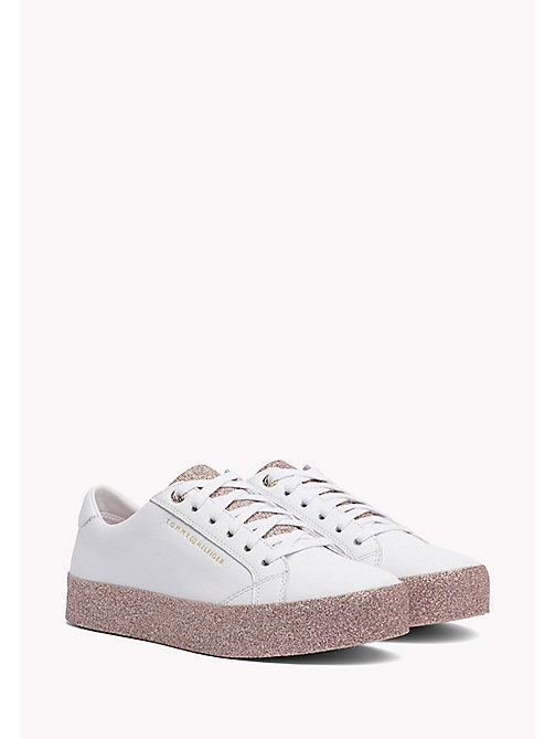 TOMMY HILFIGER Sparkle Flatform Trainers - WHITE-PINK - TOMMY HILFIGER Sneakers - main image