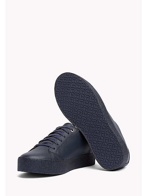 TOMMY HILFIGER Sparkle Flatform Trainers - MIDNIGHT - TOMMY HILFIGER Best Sellers - detail image 1