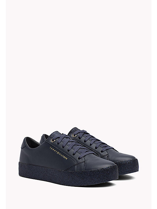 TOMMY HILFIGER Sparkle Flatform Trainers - MIDNIGHT - TOMMY HILFIGER Best Sellers - main image