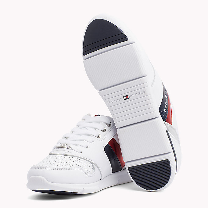 TOMMY HILFIGER Lightweight Metallic Detail Trainers - WHITE - TOMMY HILFIGER Women - detail image 1