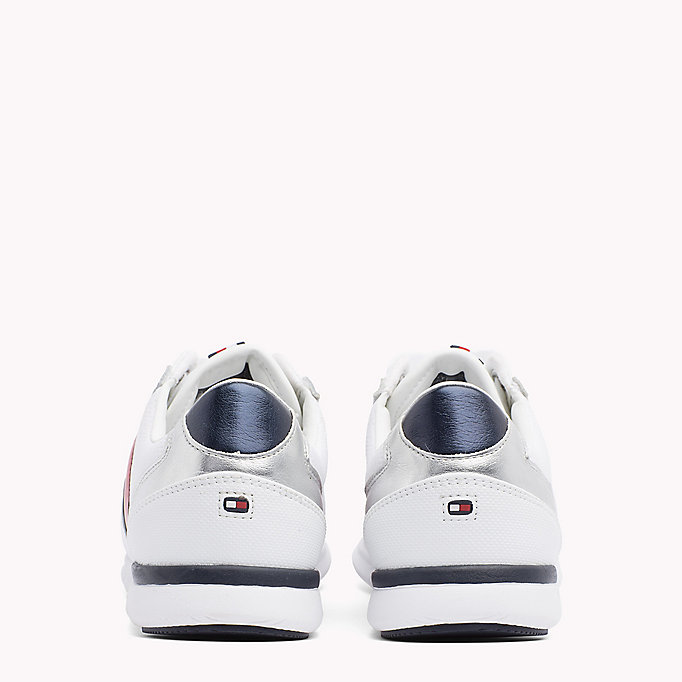 TOMMY HILFIGER Lightweight Metallic Detail Trainers - WHITE - TOMMY HILFIGER Women - detail image 2