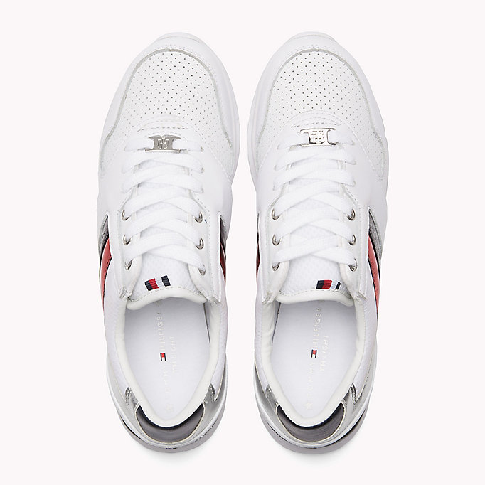 TOMMY HILFIGER Lightweight Metallic Detail Trainers - WHITE - TOMMY HILFIGER Women - detail image 3