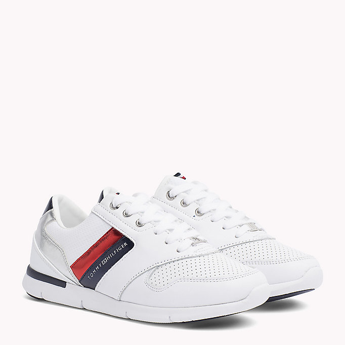 TOMMY HILFIGER Lightweight Metallic Detail Trainers - WHITE - TOMMY HILFIGER Women - main image