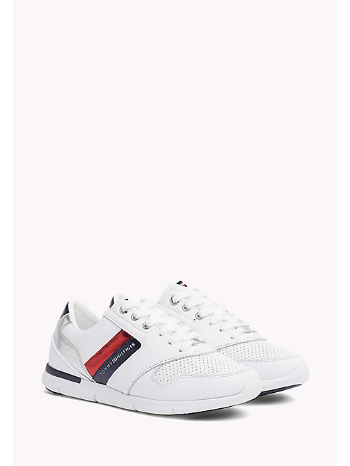 TOMMY HILFIGER Lightweight Metallic Detail Trainers - RWB - TOMMY HILFIGER Best Sellers - main image