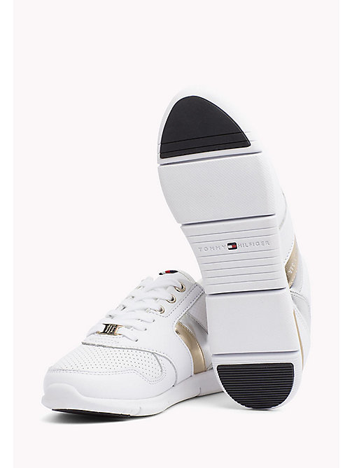 TOMMY HILFIGER Lightweight Metallic Detail Trainers - WHITE - TOMMY HILFIGER Athleisure - detail image 1